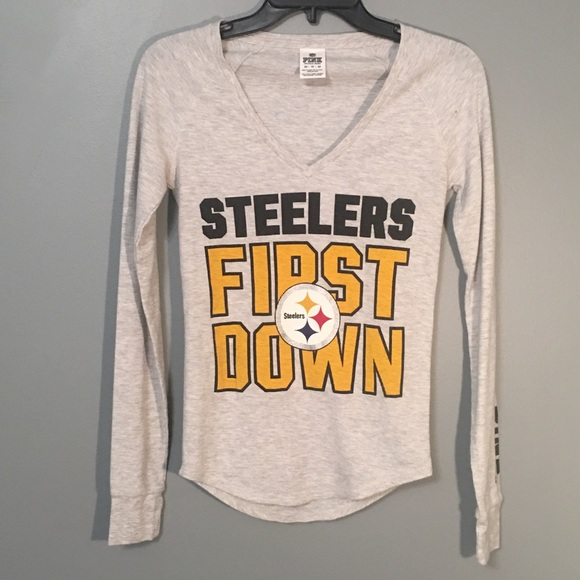 ⚫️VS PINK Pittsburgh Steelers long sleeve tee 060474451
